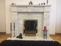 Marble fire surround hand crafted by John Kane of Glasgow