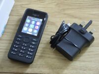 Nokia 130 Mobile Phone with Tesco Pay As You Go Simcard Includes £10 of Credit Great Condition Boxed