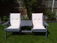 Garden Twin/Love seat with cushions* can deliver locally*