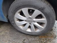 Citroen C4 Picasso 2007 Set of 4 Alloys and Tyres Excellent Tyres.