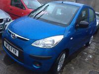 Hyundai 2010 Blue 1.2 Petrol 5-dr Timing chain 12 MONTHS MOT £1200