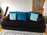 FREE 4 seater sofa black