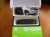 Wireless NVIDIA 3D VISION GLASSES new £20 Offer welcome.. GLASSES Only