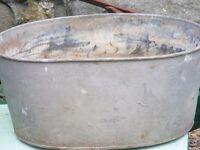vintage galvanised tin bath for sale