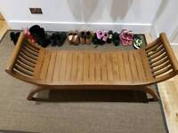 3 seater curved bench