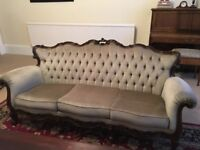 Great condition three-piece Versailles style suite made in italy