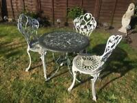 Vintage Style garden patio table and chair set . Delivery Possible