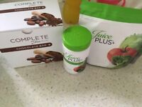 Juice plus capsules, chocolate bar and soft chewable