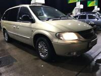 Chrysler GRAND Voyager 2.5 crd Diesel - 2002 - 7 seater - LONG MOT&TAX - not Zafira scenic galaxy