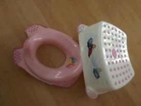 Nursery toilet training seat and step stool Disney.for a girl.
