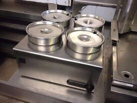 CATERING COMMERCIAL 4 POT BAIN MARIE FAST FOOD RESTAURANT TAKE AWAY KITCHEN BBQ KEBAB BAR