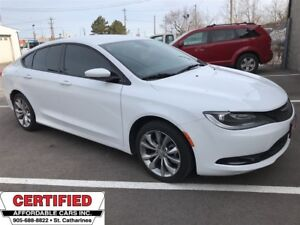 2015 Chrysler 200 S ** HTD LEATH, BLUETOOTH, CRUISE **