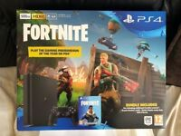 SONY PLAYSTATION 4 CONSOLE + FORTNITE GAME BUNDLE - BRAND NEW AND SEALED PS4