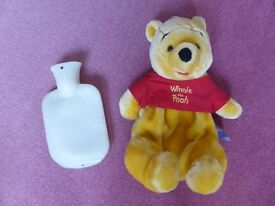 Lovely Winnie the Pooh hot water bottle cover and hot water bottle