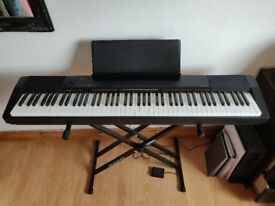 88-Key Casio CDP-130BKC5 Piano Keyboard with Pedal and Stand