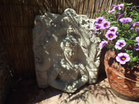 Large Concrete Buddha Wall Plaque/Tea Light Holder – Garden Ornament