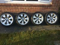 Winter Tyres & Alloys -Runflat to fit BMW etc. Plus One Summer Tyre