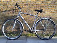 Raleigh hybrid city suspension bike