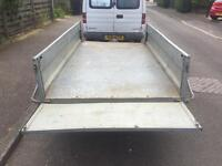 """7ft 5"""" x 4ft 3"""" Daxara tipping trailer 13"""" wheels"""