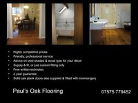 Solid Wood & Engineered Wood Flooring Fitter and Supplier
