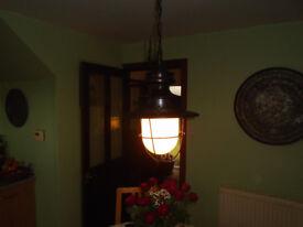 antique dining room/restaurant ceiling light