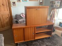 Mid century sideboard and cocktail cabinet. Retro/vintage