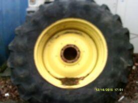 rear set of john dear tractor wheels
