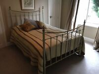 Lovely antique Victorian brass and iron bed