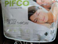 Pifco cream electric over blanket for sale  Cambridge, Cambridgeshire