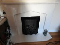 Coal style Gas Fire, with or without surround