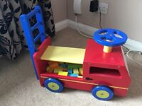 Jojo maman Bebe wooden fire engine car