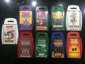 9 packs Top Trumps. Children's/ kids card games. Multiple sets Great fun for a game on the move