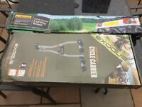Halfords Two Bicycle tower carrier withe Number plate Board