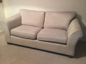 Beige 2-3 seater sofa