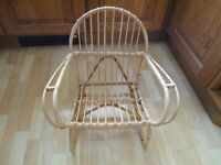 Small child's bamboo chair