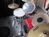7 piece drum kit with stool