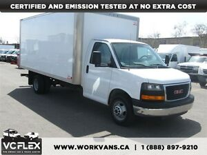 2014 GMC Savana 3500 G3500 16Ft Aluminum Box V8 Gas
