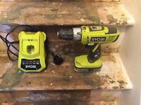 Ryobi 18v cordless drill and charger