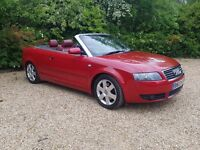 Audi A4 Cabriolet 1.8 Turbo Sport Red Leather