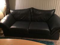 Leather sofas 3,2 and chair Reid's Navy