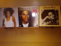 Diana Ross, Michael Jackson and Whitney Houston Vinyl Albums