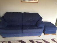Great condition three piece suite with Footstool