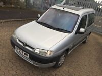 Peugeot partner quicksilver, 1.9 manual,diesel, long mot, drives very good, very spacious, hpi clear