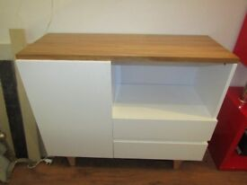 WHITE HIGH GLOSS SIDEBORAD TV CABINET BRAND NEW 2 DRWERS 1 DOOR