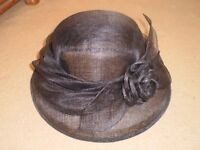 Vintage M & S Black Formal Event Hat / Wedding - Mother of the Bride - Ascot Ladies Day -