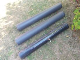 Two lengths of woodburner / stove pipe, individually priced (see description)
