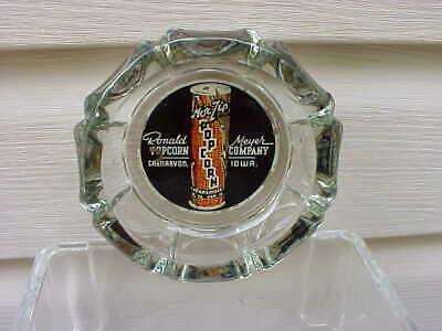 VINTAGE Mor Zip popcorn tin ashtray Carnarvan Iowa EXC graphics