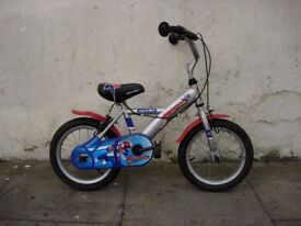 Kids Bike, by Apollo, Silver, 14 inch Wheels Great for Kids 4 Years, JUST SERVICED / CHEAP PRICE!!!!