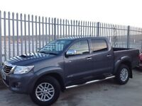 2012 TOYOTA HILUX D/C 3.0 D4-D INVINCIBLE MANUAL 4X4 GREY ++ LOW MILEAGE!! ++ NO VAT!! ++