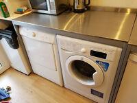 Ikea UDDEN double work table, stainless steel freestanding kitchen unit